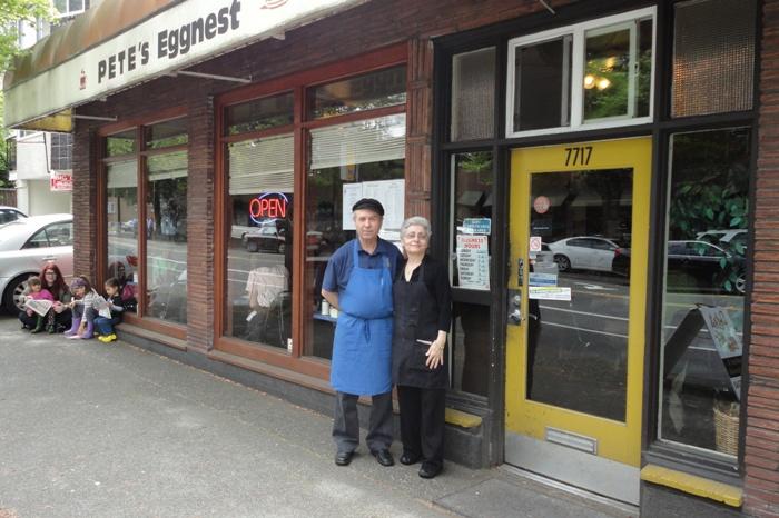 Εξωτερική άποψη του διάσημου εστιατορίου στο Σιάτλ