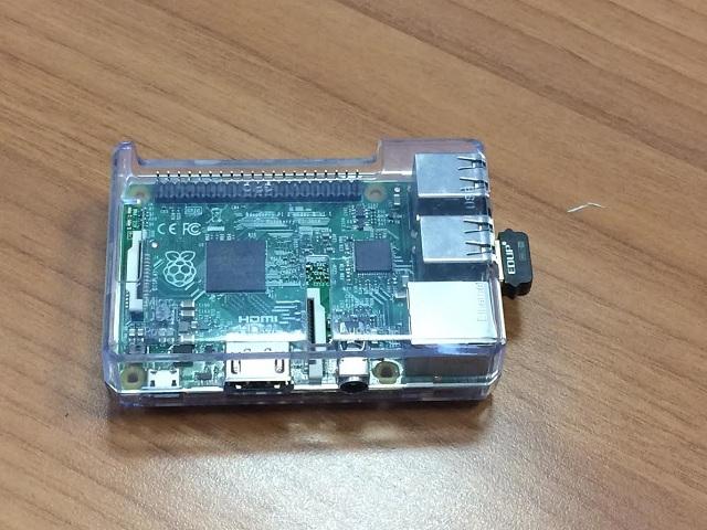 Ο υπολογιστής Ruspberry Pi πάνω στον οποίο θα γραφεί ο κώδικας του πειράματος