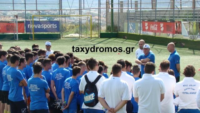 Από την ομιλία του προς τους ποδοσφαιριστές στο camp του Βόλου