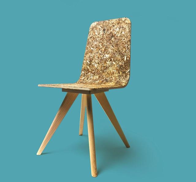 Καρέκλα με επένδυση από αγριαγκινάρα Βελεστίνου