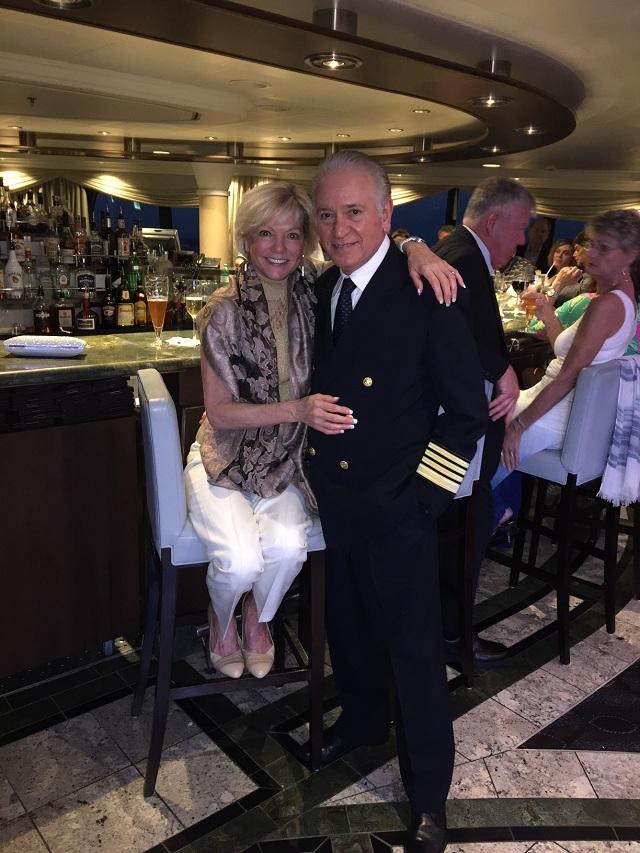 O Βολιώτης καπετάνιος με τη σύζυγό του Ντενίζ