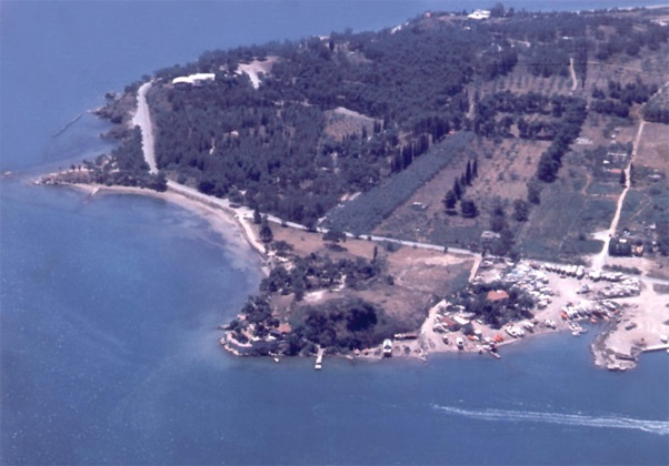 Αεροφωτογραφία της αρχαίας πόλης που βρίσκεται στο πολεοδομικό συγκρότημα