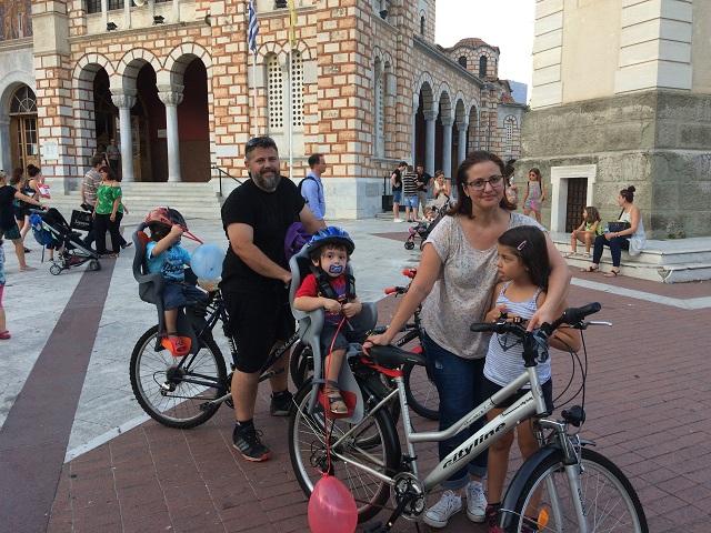 Οικογένειες με ποδήλατα έδωσαν το «παρών»