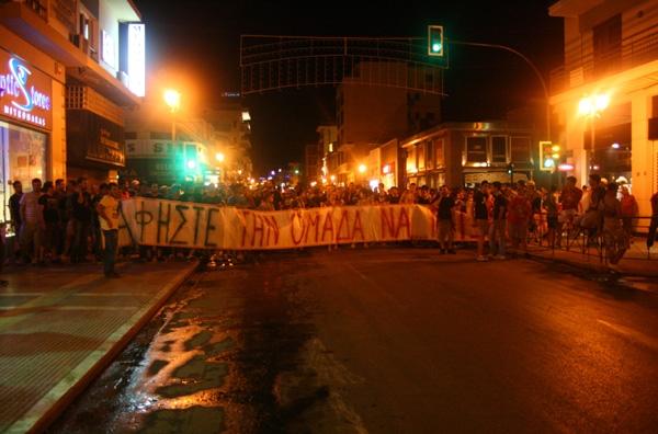 Βραδινή πορεία διαμαρτυρίας