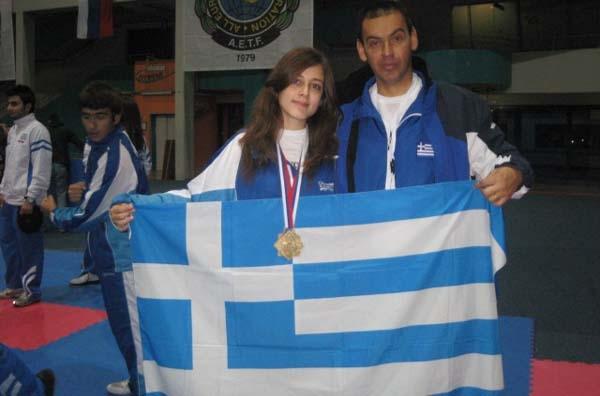 Χάλκινο μετάλλιο στο Taekwondo η Α.Παπατόλια