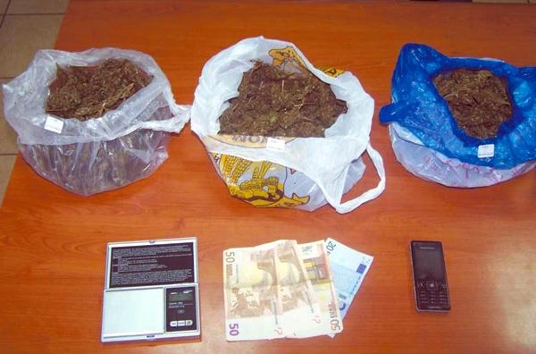Σύλληψη Λαρισαίου με 600 γραμμάρια κάνναβης