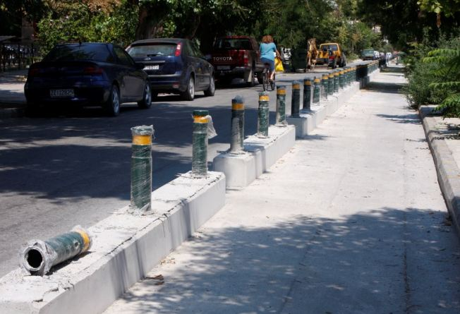 Θα ξηλωθούν τμήματα του ποδηλατοδρόμου