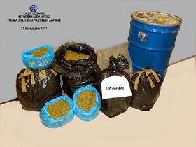 Λάρισα:Σύλληψη δύο ατόμων για κατοχή και διακίνηση ναρκωτικών ουσιών.