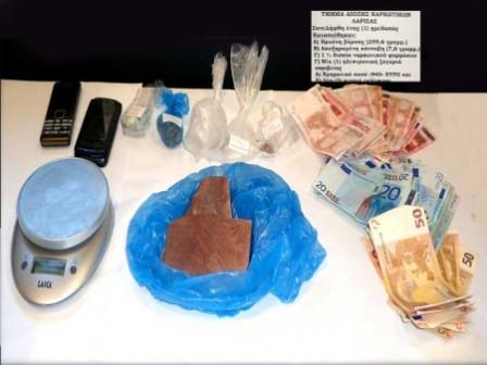 Σύλληψη 35χρονου στην Λάρισα για διακίνηση ναρκωτικών
