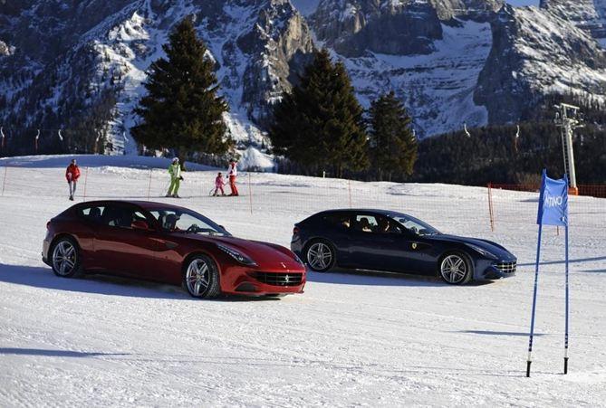 Ferrari στο χιόνι (vdeo)