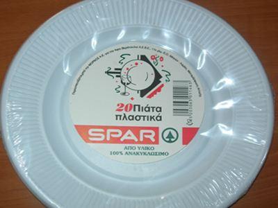 Οξικό οξύ σε πλαστικά πιάτα