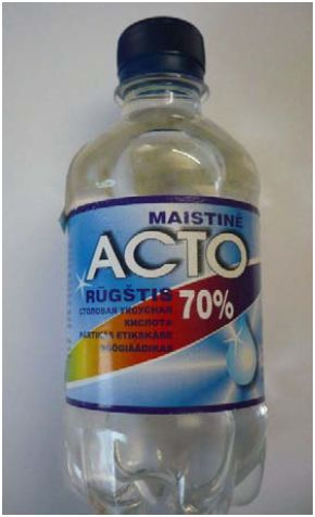 Aνάκληση προϊόντος αρώματος οξικού οξέος