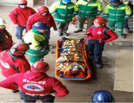 Η Ελληνική Ομάδα Διάσωσης Μαγνησίας σε άσκηση πρώτων βοηθειών