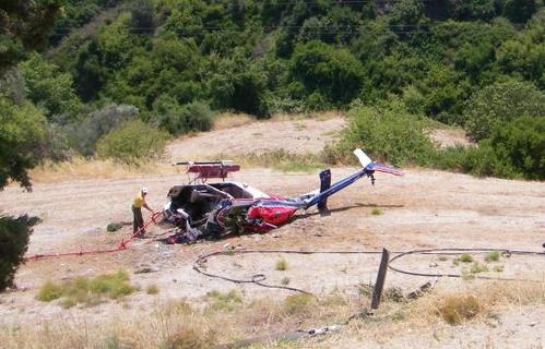 Ελικόπτερο έπεσε στη Θήβα