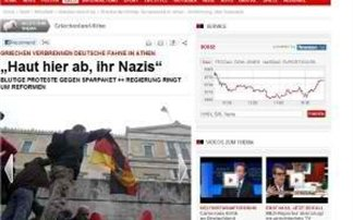 Γερμανικά δημοσιεύματα για το κάψιμο της σβάστικας στην Αθήνα