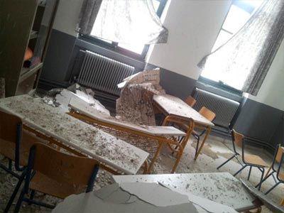 Έπεσε το ταβάνι στο κεφάλι των μαθητών