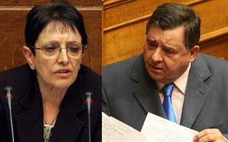 Παρεμβάσεις Παπαρήγα - Καρατζαφέρη στη Βουλή