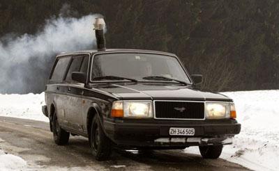 Volvo με ξυλόσομπα