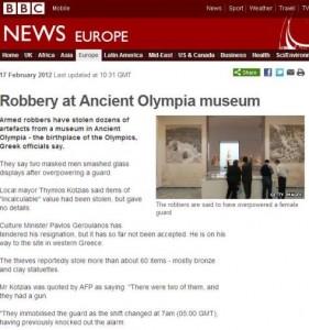 Η ληστεία στην Αρχαία Ολυμπία κάνει το γύρο του κόσμου!