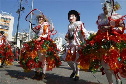 Πορεία διαμαρτυρίας πριν από την παρέλαση στο Καρναβάλι της Πάτρας
