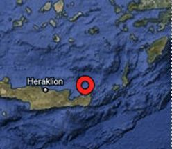 Σεισμός 4.5R ανατολικά της Κρήτης