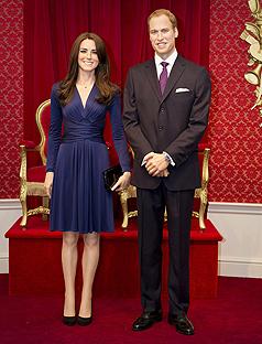 Κέρινα ομοιώματα για τον William και την Catherine