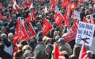 Ογκώδης διαδήλωση στη Μαδρίτη κατά των μέτρων λιτότητας