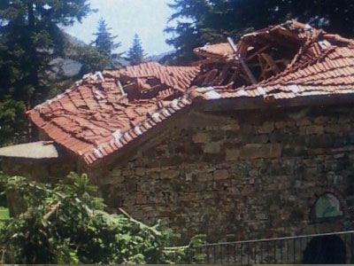 Κατέρρευσε στέγη Μοναστηριού στην Καρδίτσα