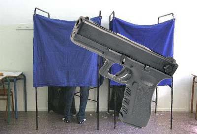 Mπήκε με πιστόλι σε εκλογικό τμήμα