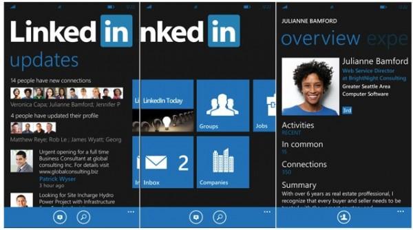 Windows Phone εφαρμογή για το LinkedIn