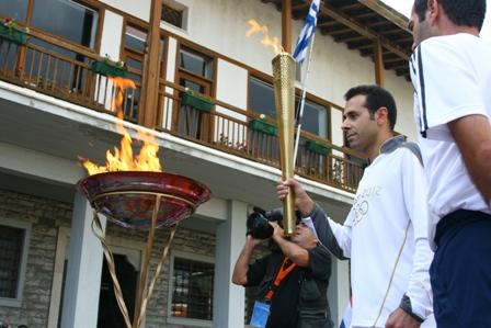 Η   Ολυμπιακή  Φλόγα  στο  Βόλο