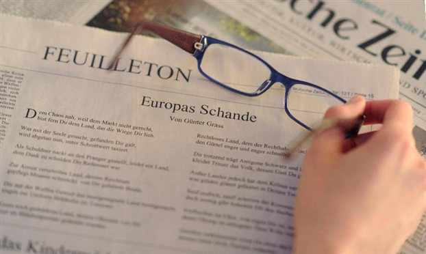 Frankfurter Allgemeine: Φάρσα το ποίημα του Γκύντερ Γκρας υπέρ της Ελλάδας