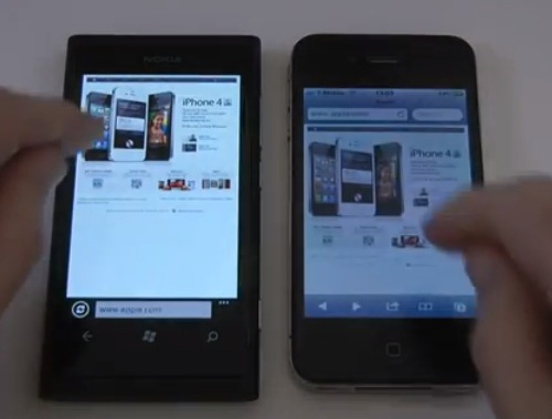 Nokia Lumia 800 εναντίον iPhone 4