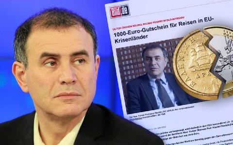 Ρουμπινί: Ολική διάλυση της ευρωζώνης, αν φύγει η Ελλάδα