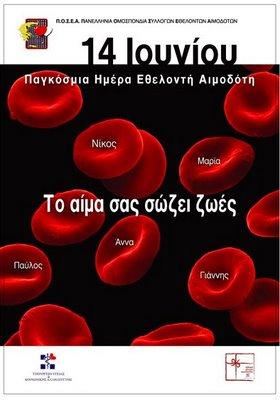 Εθελοντική Αιμοδοσία  αύριο στην Παραλία