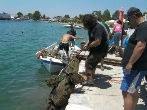 Εύβοια:Τι φαντάζεστε ότι ψάρεψαν στη θάλασσα της Ερέτριας;
