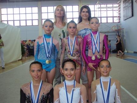 Επιτυχίες αθλητριών της Γυμναστικής Ενωσης Βόλου