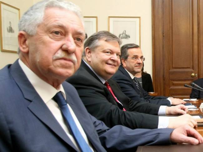 Ραντεβού Σαμαρά με Βενιζέλο και Κουβέλη για το αυριανό Eurogroup