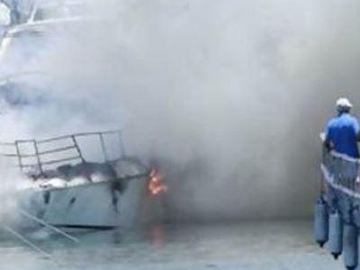 Χανιά: Φωτιά σε σκάφος - Ένας τραυματίας