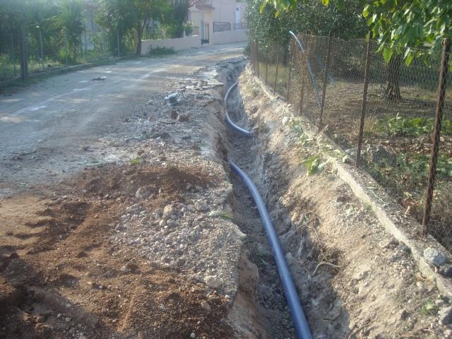 Για τον αγωγό ύδρευσης στο Στεφανοβίκειο