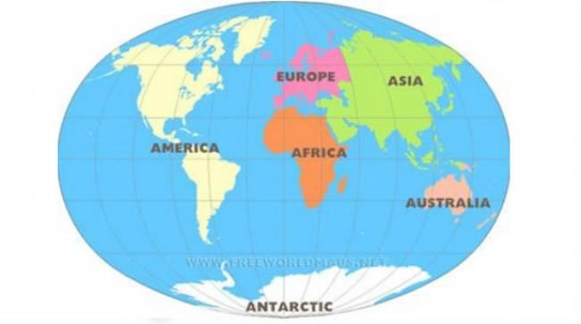 Πώς πήραν το όνομά τους οι ήπειροι;