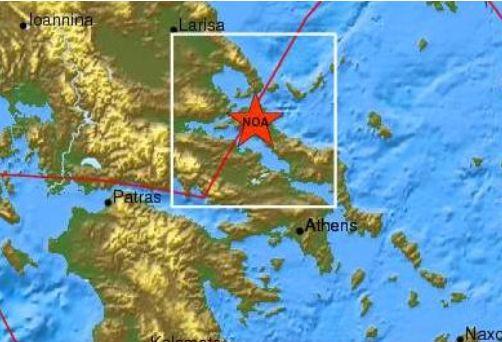 Σεισμός 3,8 R στη Β. Εύβοια