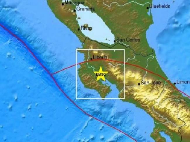 Σεισμός 7.6R βορειοδυτικά της Κόστα Ρίκα