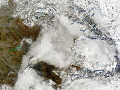 Λευκό τοπίο επικρατεί στα Καρπάθια Όρη