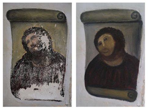 Μερτικό από το «έργο τέχνης» της ζητά γιαγιά που κατέστρεψε τοιχογραφία του Χριστού