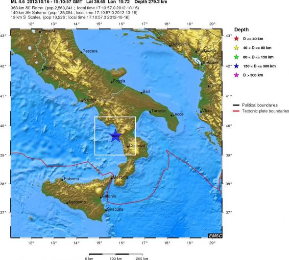 Δύο σεισμοί στην Ιταλία