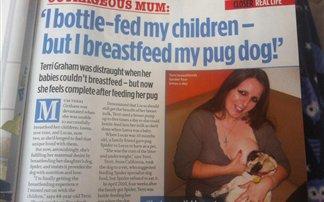 Γυναίκα θηλάζει σκύλο!