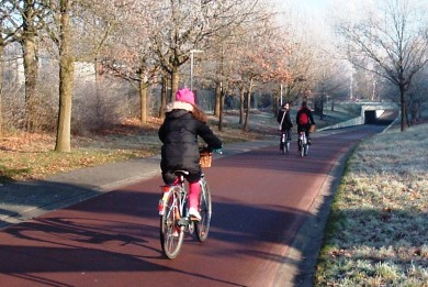 Θερμαινόμενοι ποδηλατόδρομοι με γεωθερμία στην Ολλανδία