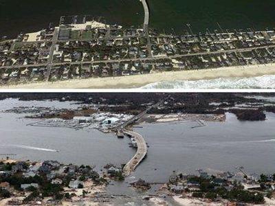 Πριν και μετά τον τυφώνα...