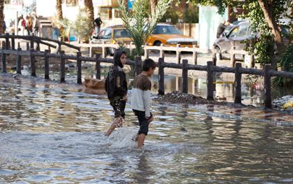 Η σφοδρότερη βροχόπτωση της 30ετίας στη Βαγδάτη
